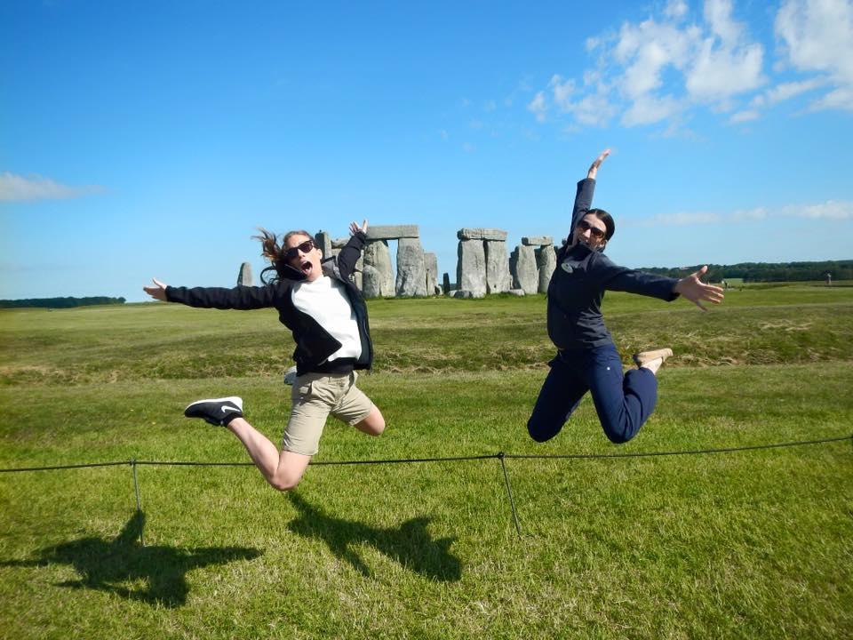 Mikall Anderson Alumni 2012 on Tour at Stonehenge