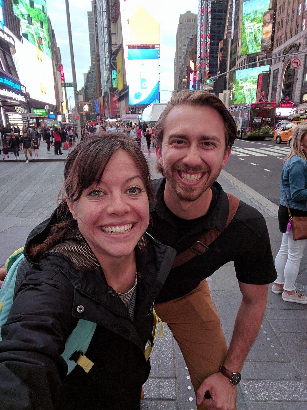 Jackie Truitt and Matt Thomas, Alumni 2017 in New York City