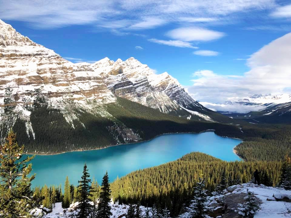 Photo taken by Lori Bodkin, ITMI Alumni 2018, on tour visiting Morraine Lake in the Canadian Rockies