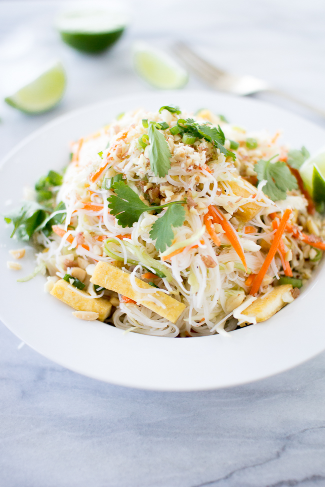 Vermicelli Tofu Noodle Bowl — Flourishing Foodie