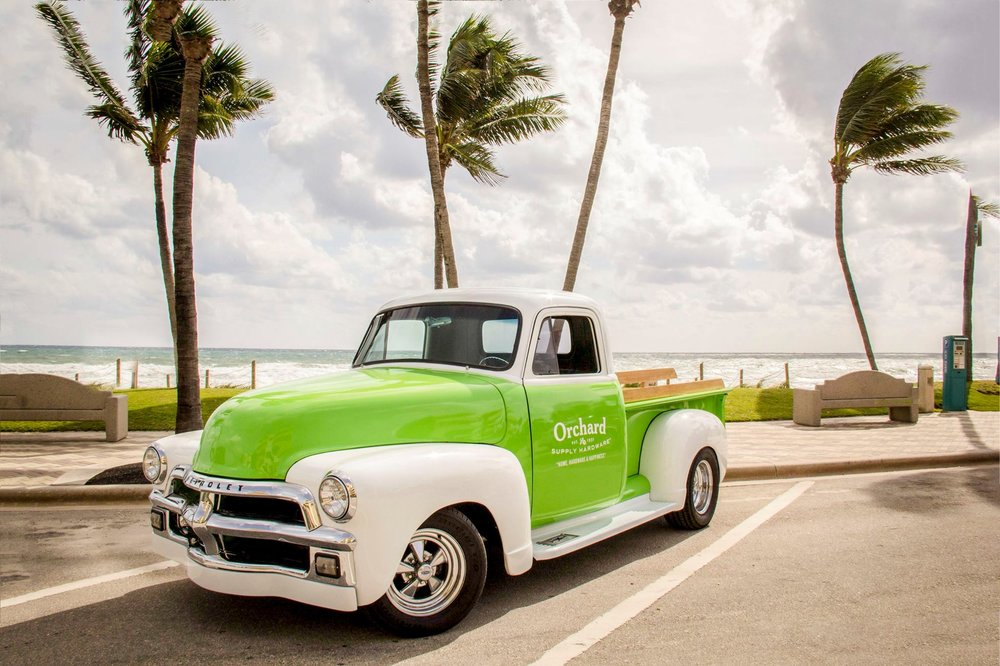 Hello, Deerfield Beach! We're thrilled to be the newest neighbor on the block, so come meet us at our new store for all your home enjoyment needs on Nov.15th!  Spot us by our shiny vintage ride out front – can you guess the year?