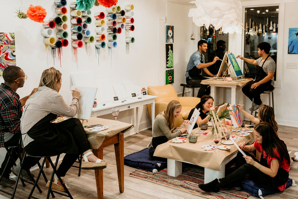 Bring Your Friends - We have group classes and open studio hours Tuesday through Sunday.Sign Up For A Group Class ➝