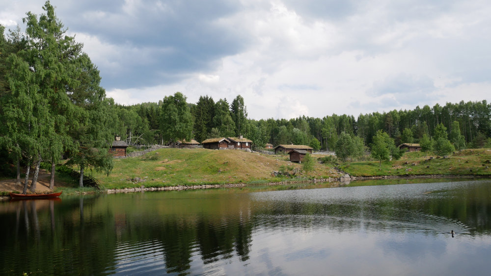 Maihaugen open-air museum: a collection of rural mountain farms, or  seter .