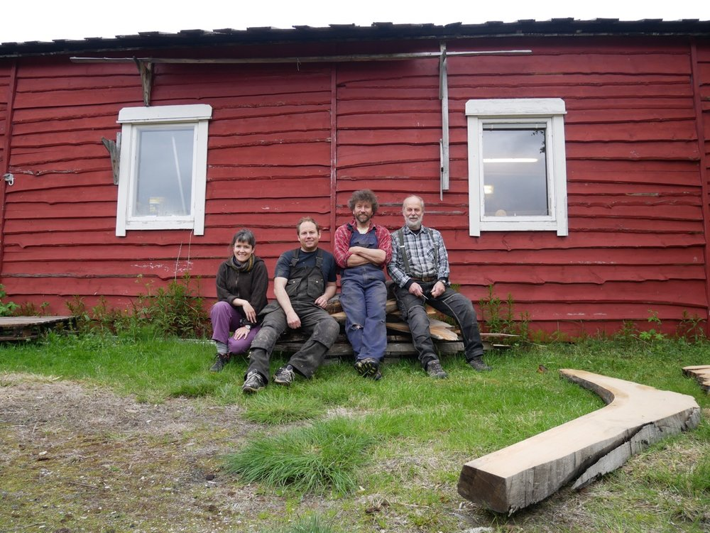 From L to R: Me, Ola, Arne-Terje, Gunnar and a tree knee.