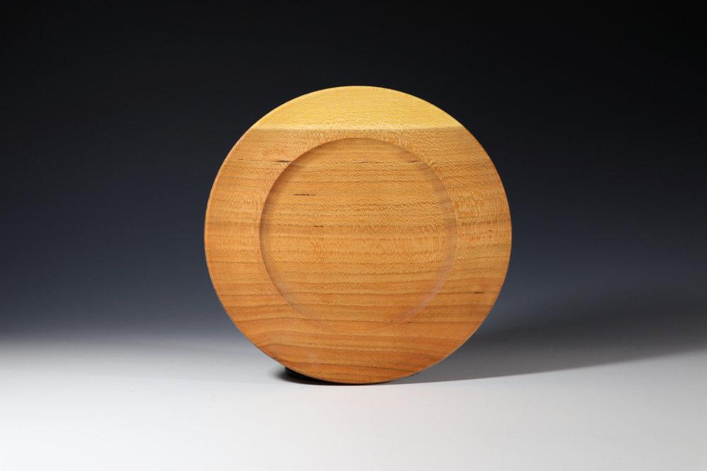 """Cherry plate, 2018. 9"""" diameter"""