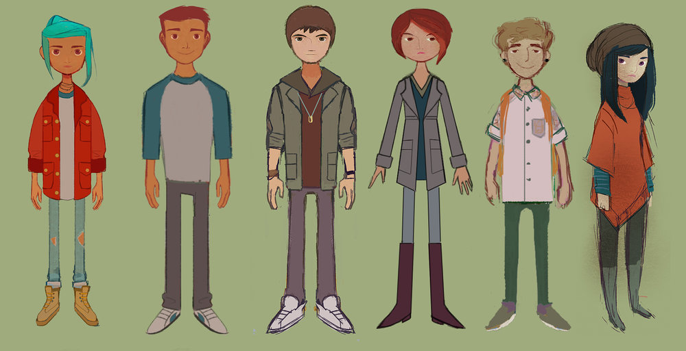 "Character Lineup ""Oxenfree"""