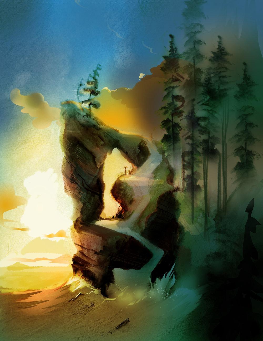 "Environment Concept ""Oxenfree"""