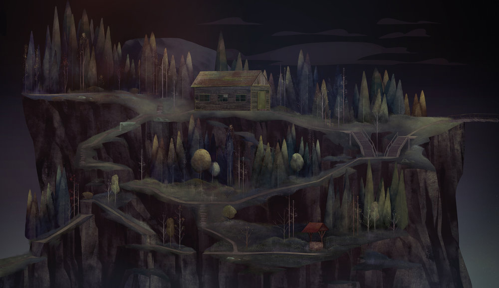 "Woods Painting ""Oxenfree"""