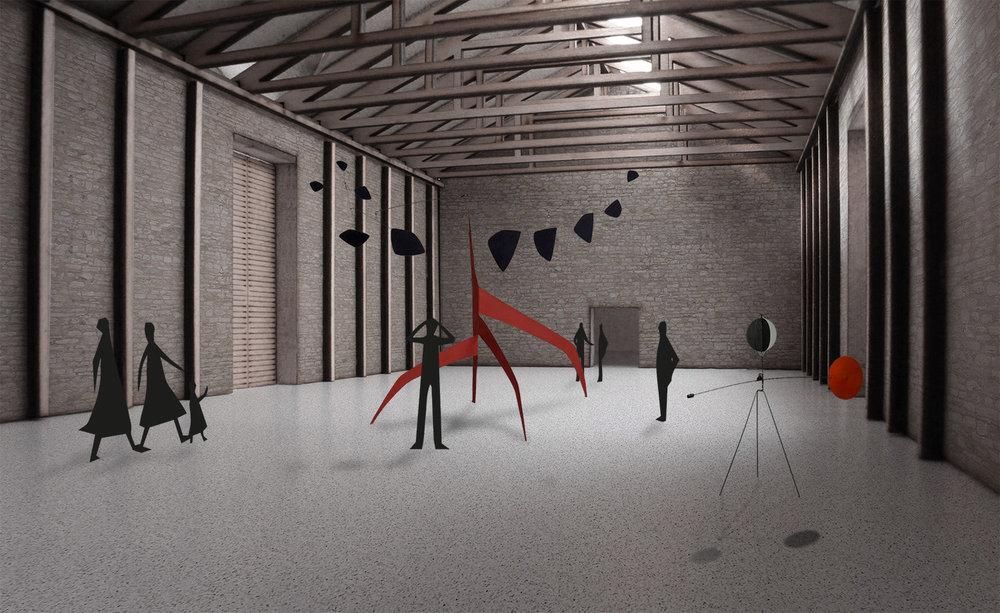 exhibition space, Monfort