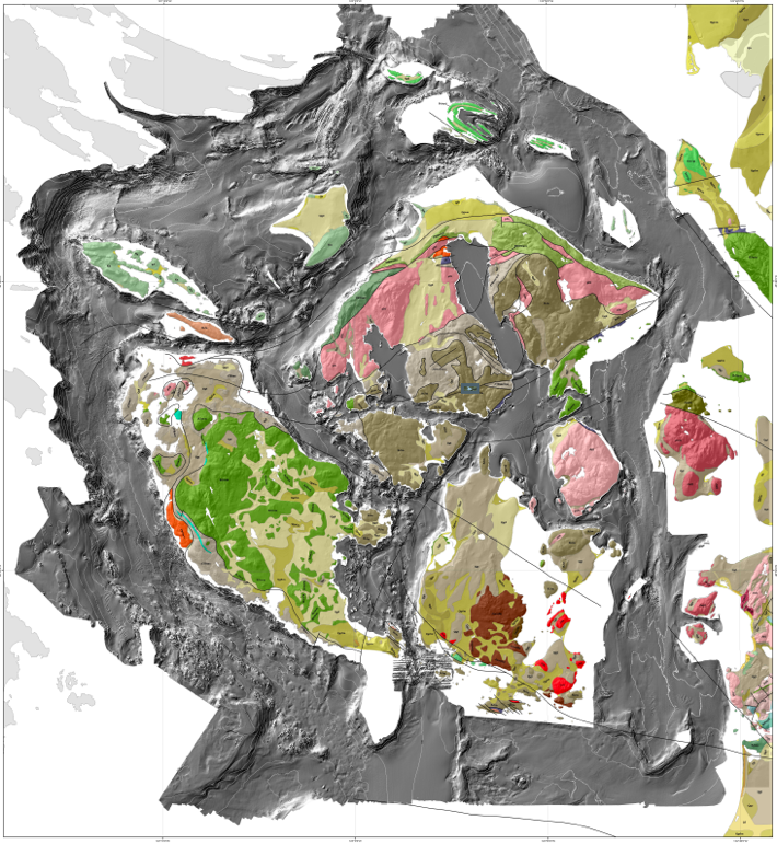 Map by Gary Greene & Tombolo Mapping Lab