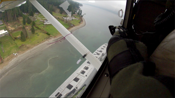 View from the WDFW seabird spotting plane. Joe Evenson/WDFW