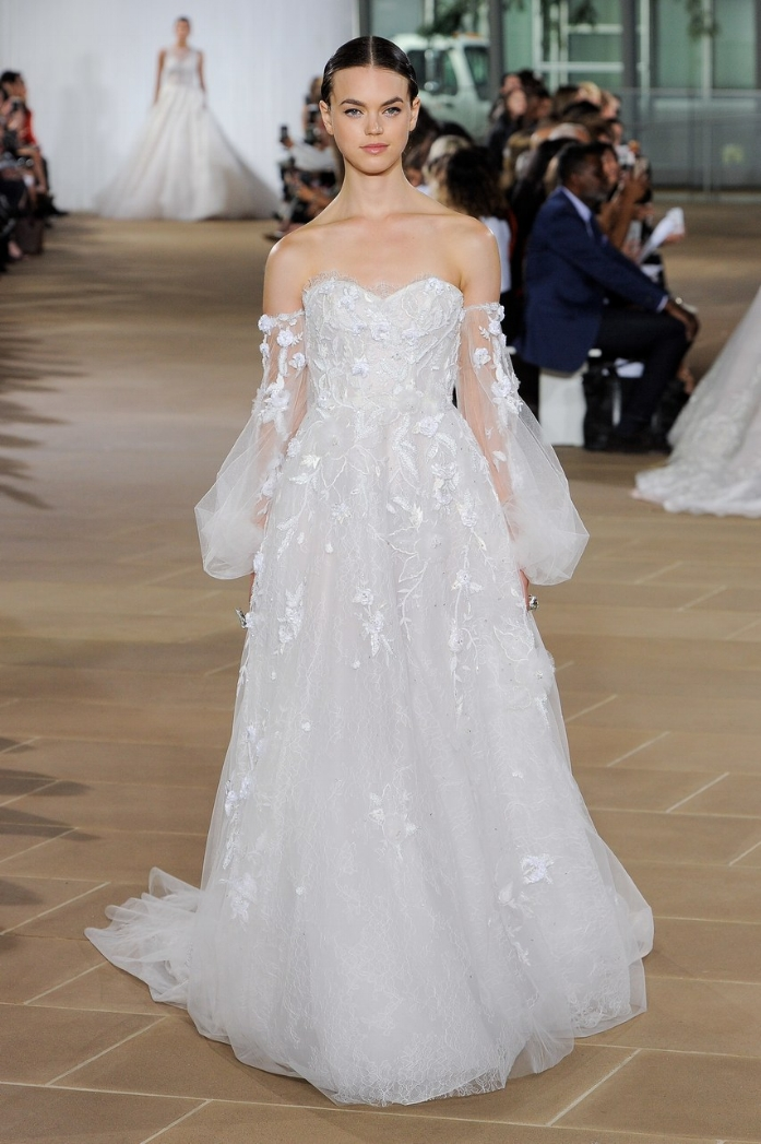 """Ines Di Santo - """"Melia"""" gown from East of the Sun and West of the Moon Collection Fall 19 Bridal"""
