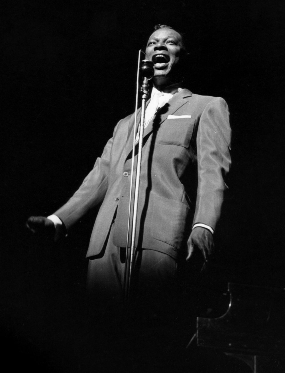 """Nat """"King"""" Cole. Photo Courtesy Frank Driggs Collection."""