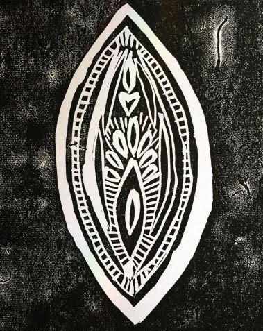 Linoleoum print by me