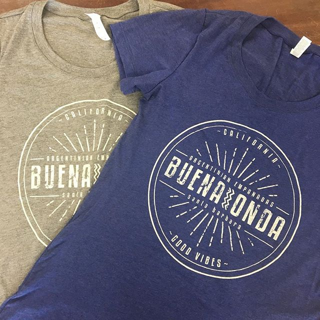 Just handed off a new round of tees to our friends at @buenaondasb! Be sure to look for them this weekend at @sb_earthday so you can get your hands on some of their delicious empanadas! 🤤🥟 (
