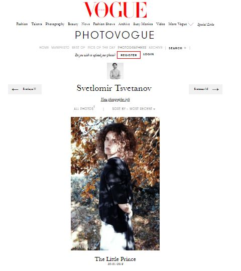 Svetlomir Tsvetanov's work in photoVogue