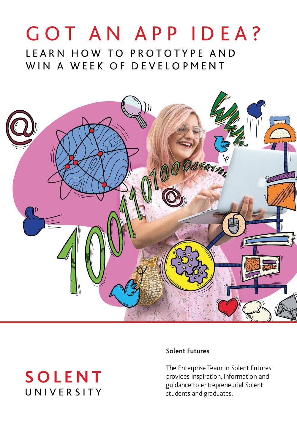 Solent University's App Promotion Leaflet - 2018