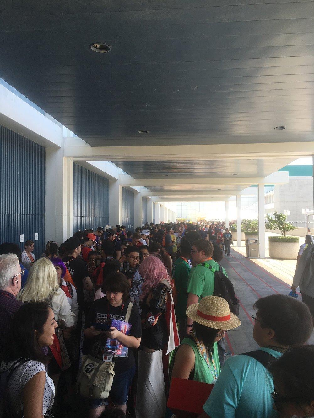The line to get into Viz Media's panel