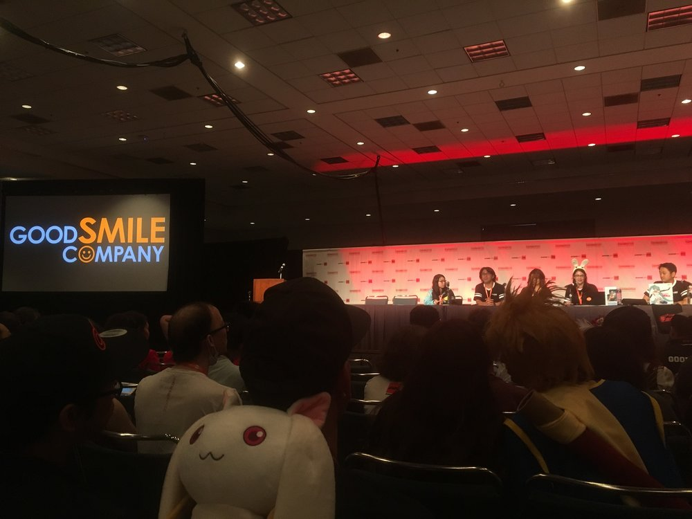 The panelists at the Goodsmile panel