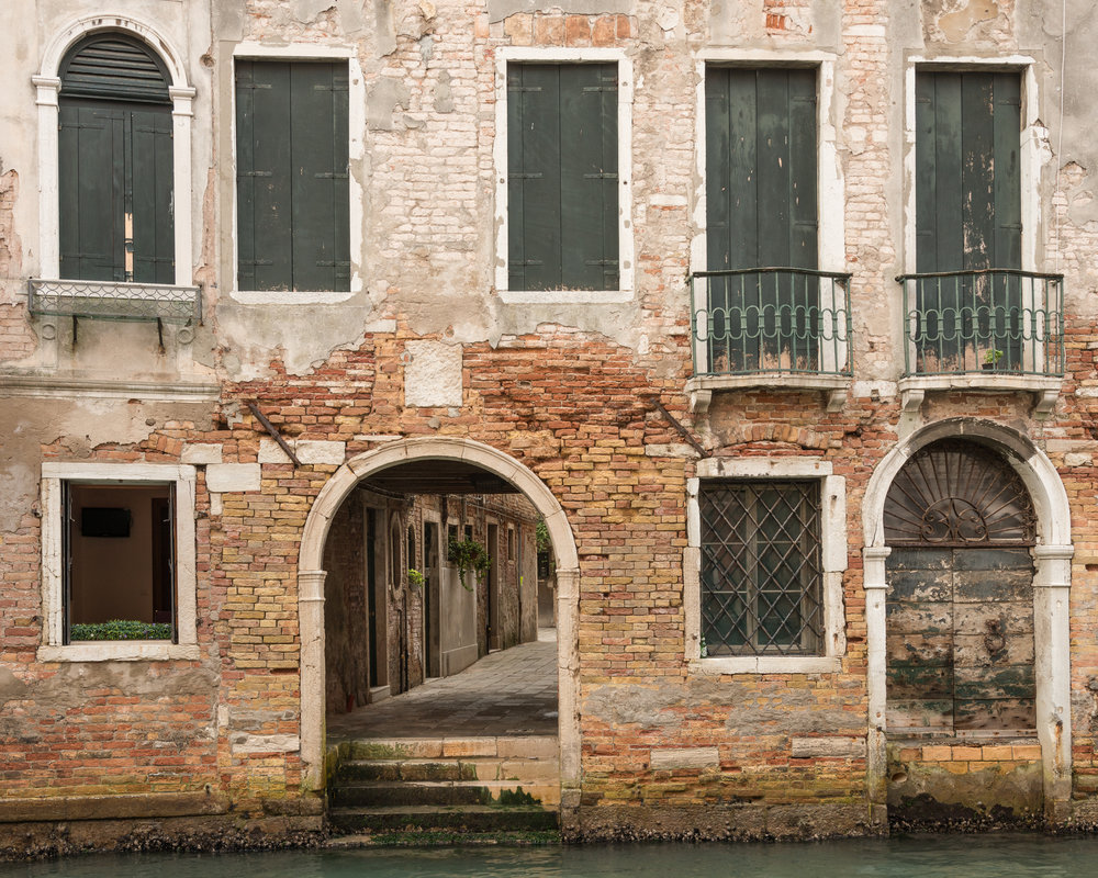 Canal Stairs Lost in Venice