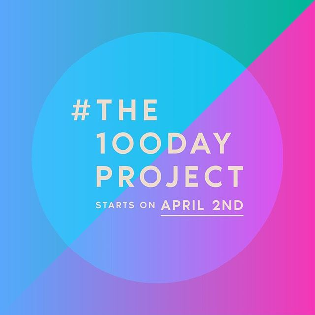 I'm doing this!! But starting a week late (tomorrow) because...yeah!! . 🤞= I actually start tomorrow. 😬 . I've got some collage-type things rattling around in my brain. Think this is the perfect outlet for such things. . . . . . #the100dayproject