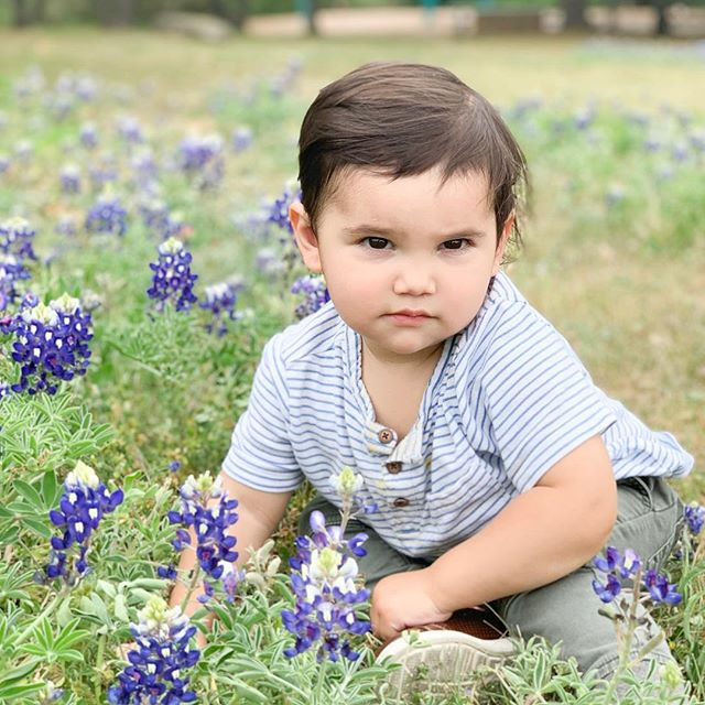 You know you've become a true Texan when you get a picture with the bluebells!  Spring is in full bloom here in Austin, and I couldn't be happier to see so much green!  I'm a sunshine kind of girl, and I like warm weather year round ☀️ What's spring look like today in your city?  P.S. Is anyone else dying over Liam's smolder in this pic?!🤣 . . . #springtimeinaustin #selfcaredaily #mylittleman #bluebells #picoftheday #lovetheearth #youareenough #girlpreneur #itsthelittlethingsinlife