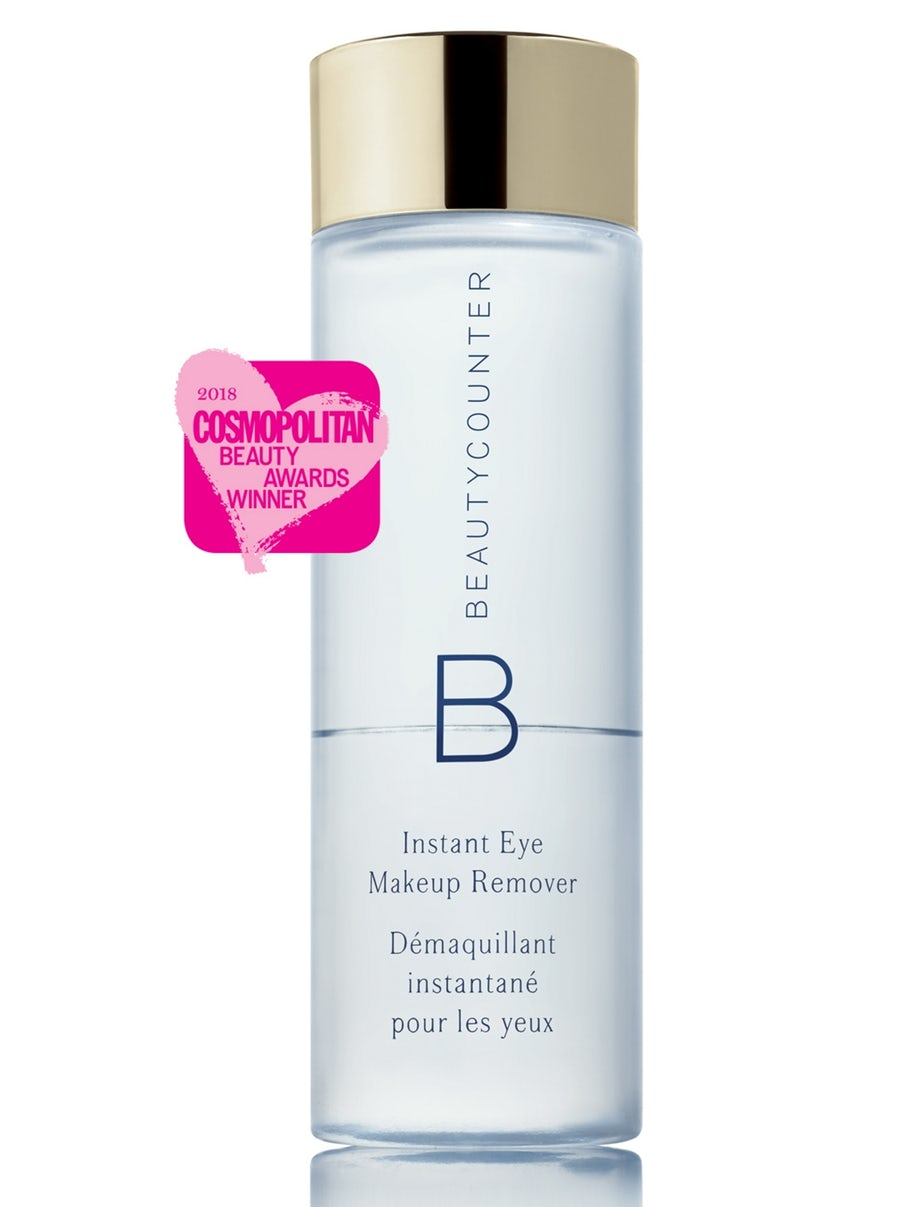 Instant EyeMakeup Remover - Just a quick shake activates this innovative dual-phase formula to completely erase long-wear and waterproof makeup. Made without mineral oil or silicones, it uses the power of coconut and macadamia oils to break down pigments and cornflower extract to soothe delicate skin. Safe for sensitive eyes and contact lens wearers.