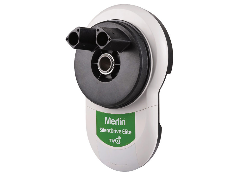 SILENTDRIVE ELITE MR865MYQ - The latest Merlin opener to power your garage door! At last, you can monitor and control your garage door opener away from home through the Merlin MyQ app via your smartphone, tablet or computer.Receive alerts and notifications for complete peace of mind knowing you are in control away from home.Schedule to close your garage door at any set time.  Compliant to Australian & New Zealand Safety Standards, plus packed with IR Protector Safety Beams for extra security and Merlin's Premium+ remote control that can control up to four powered garage doors. Including market leading 7 Year Warranty for peace of mind and Merlin Security+2.0 encryption rolling code technology.