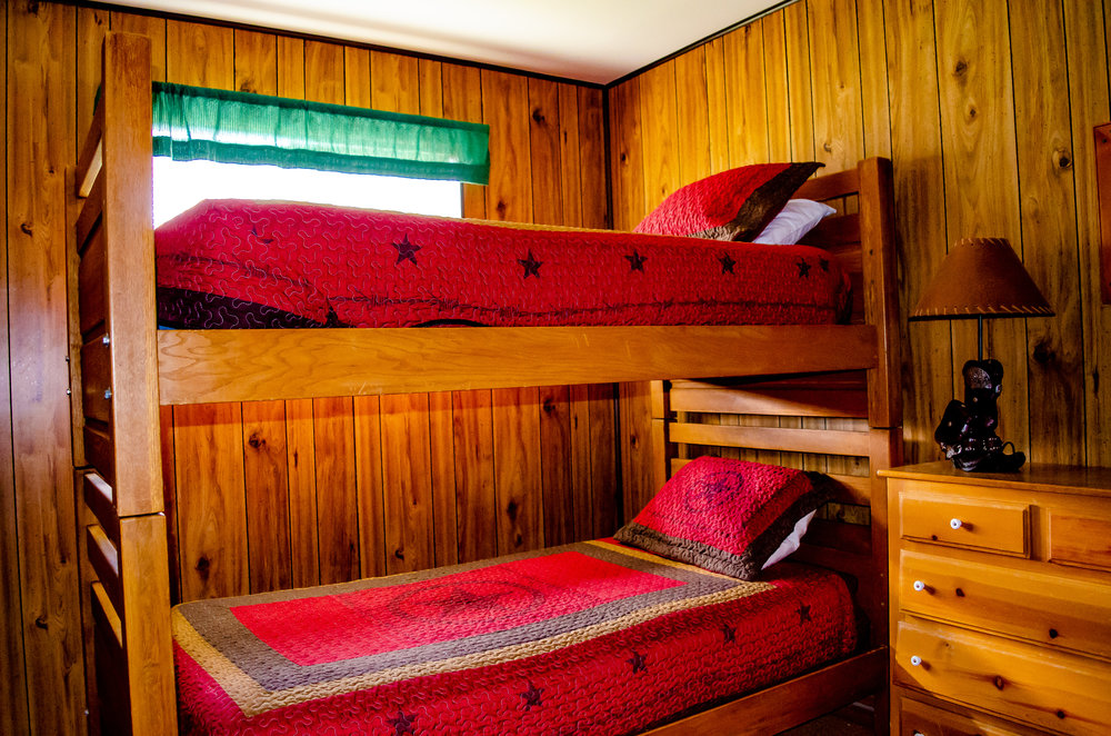 One of our twin bunk rooms.