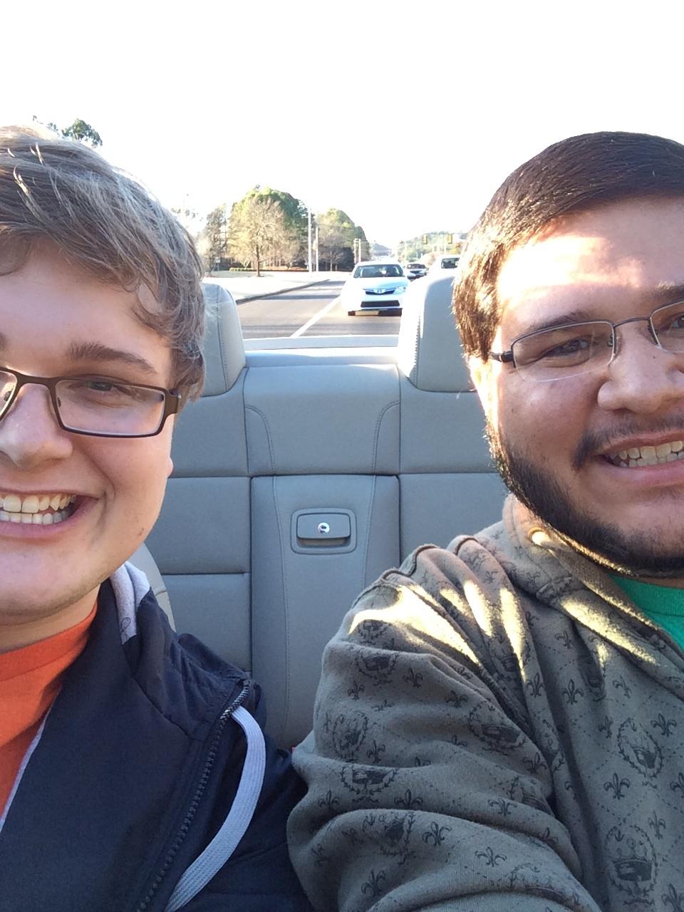 adam loved his new volkswagen convertible