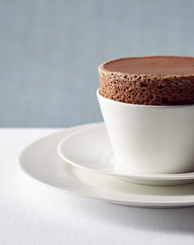 Photo of our Chocolate Soufflé
