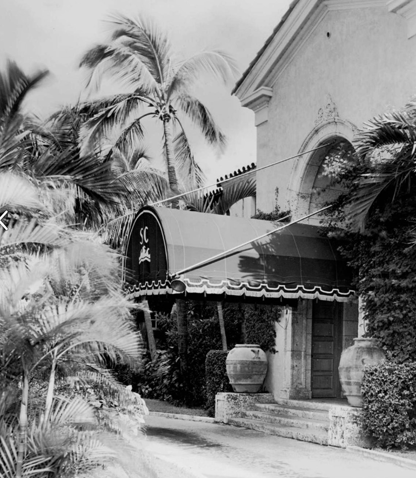 Photo of The Surf Club front entrance in early 1940's