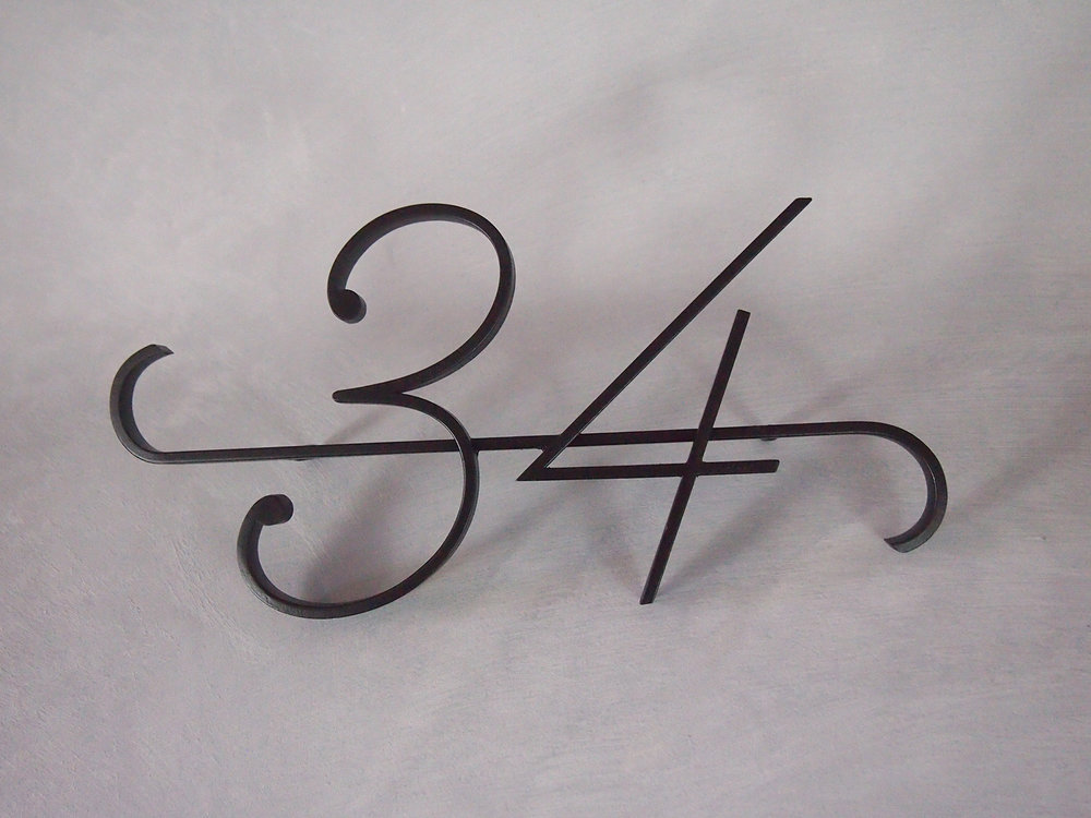Steel number 1 - Black powder coated finish