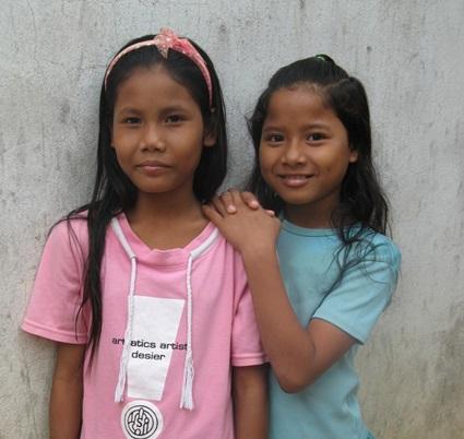 Vhuty (left) in her first days at Mekhala House