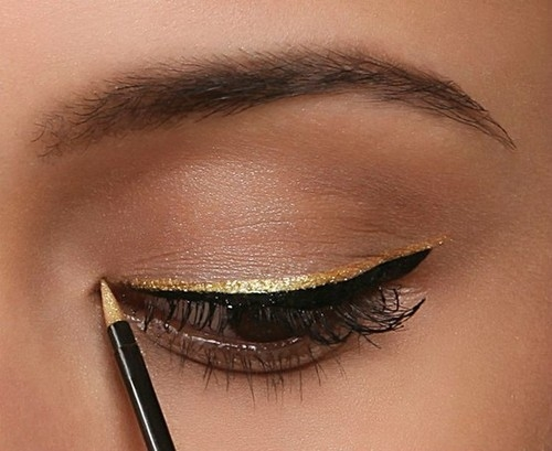 Gold Metallic Eyeliner