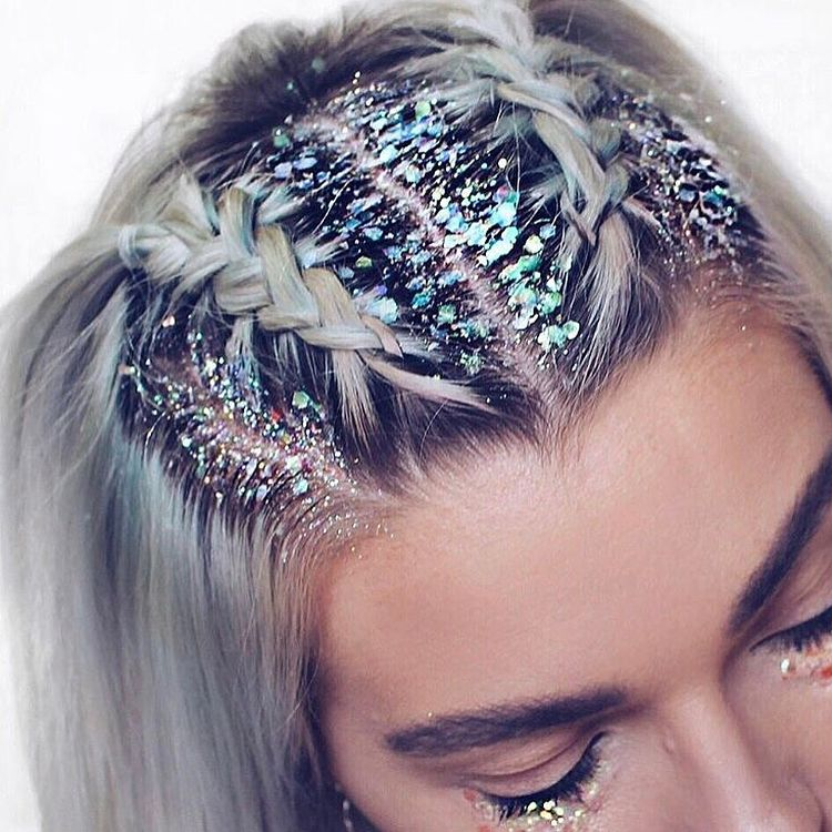 Beautiful glitter braids for the big night