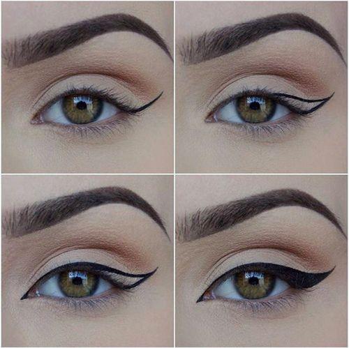 Winged eyeliner in 4 steps