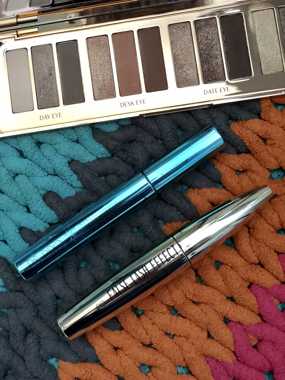 Both mascaras available from Primark. Palette, which is also fabulous is by Charlotte Tilbury.