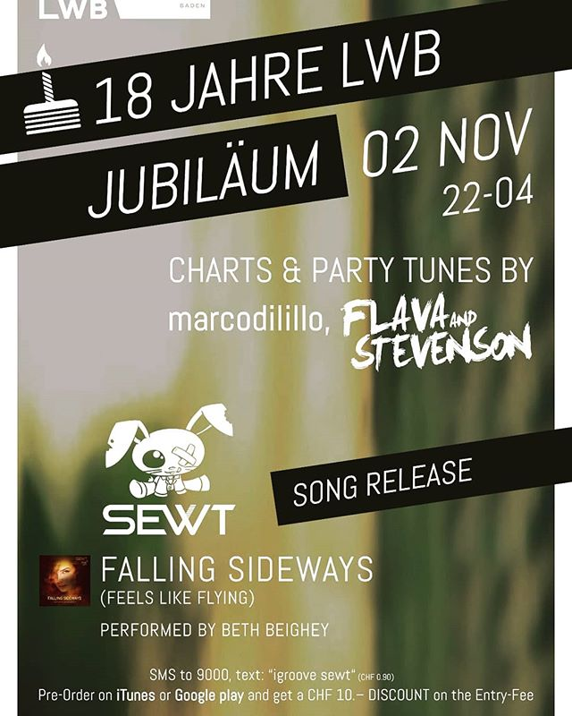 Join me at the release party and let's celebrate together!!! 🍾🍸 Looking forward to it.  If you pre-order the song you get a dicount on the entrance ⚡ ----------------------------------------------------------------- #groove #igroove #songrelease #releaseparty #music #newsong #musicproducer #musicismylife #goodmusic #beats #musicbiz #publishing #sewtme
