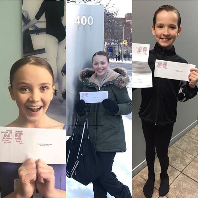 Congratulations to @tessa_kozma @erica_pickering and @munk_jasonpatryluk for being accepted into the @nbs_enb 's summer program. 👏🏻❤️And thank you to @carlyamiller for her dedication to their ballet training. So proud of you guys! Get get em'! Xo, ~JJ