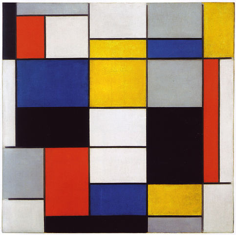 Composition A by Piet Mondrian, 1923