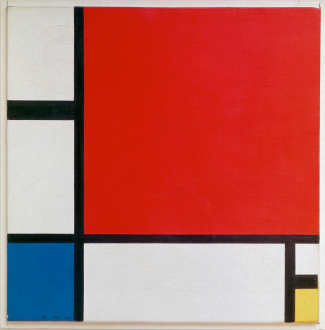 Composition II in Red, Blue, and Yellow by Piet Mondrian, 1930
