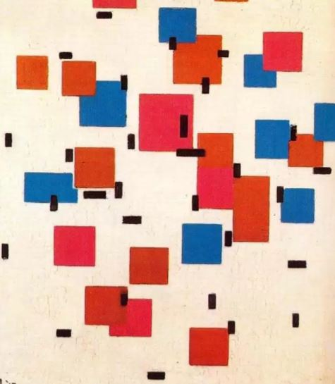 Composition in Color A by Piet Mondrian, 1917