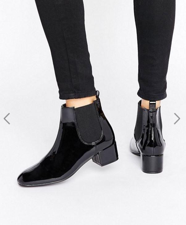 ASOS // Monki Patent Chelsea Ankle Boot