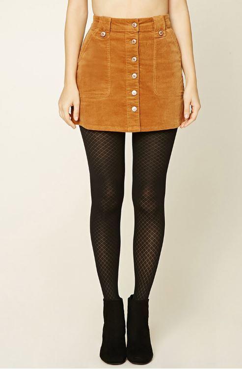 Forever 21 // Corduroy Button-Down Mini Skirt