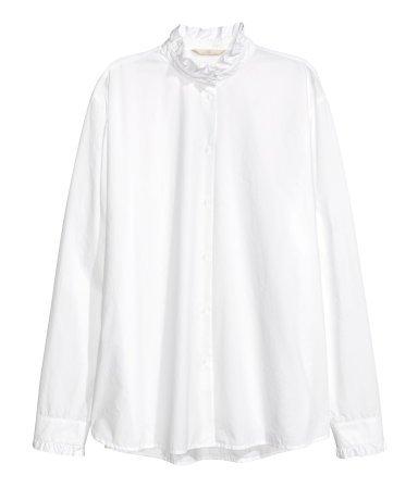H&M // Shirt with Ruffled Collar