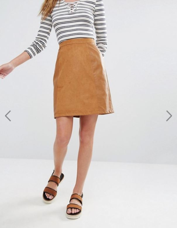 ASOS // Oasis Patched Suedette Skirt
