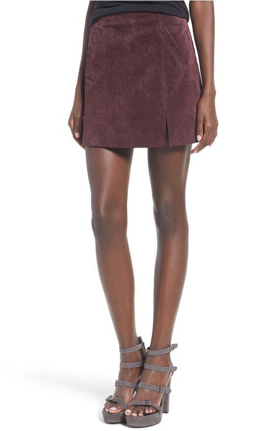 Nordstrom // BLANKNYC Suede Mini Skirt