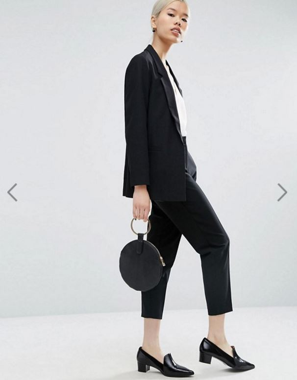 ASOS // Tailored Crepe Suit in Black