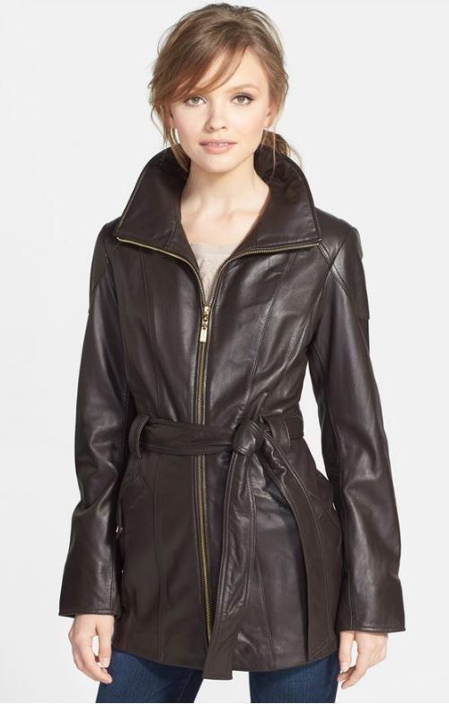 Nordstrom // Ellen Tracy Leather Trench Jacket